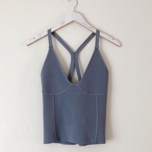 Zara knit stretchy corset top with open back